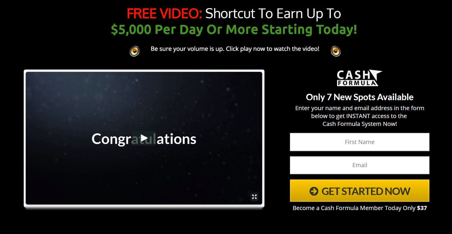 Cash Formula Review- Must READ This Review Before Join!!