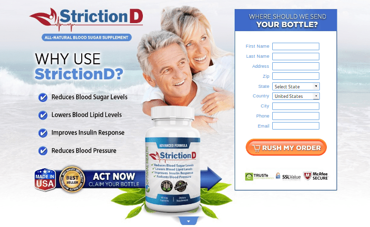 StrictionD Review – Unique Formula To Balance Your Blood Sugar!!!