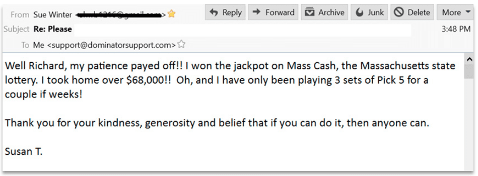 My Lottery Loopholes Testimonial