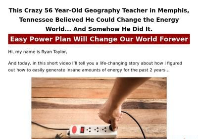 Easy Power Plan eBook Review – Amazing Guide For Survival!!